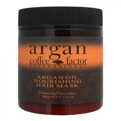 Coffee Factor Professional Argan Oil Nourishing Hair Mask, 500ml