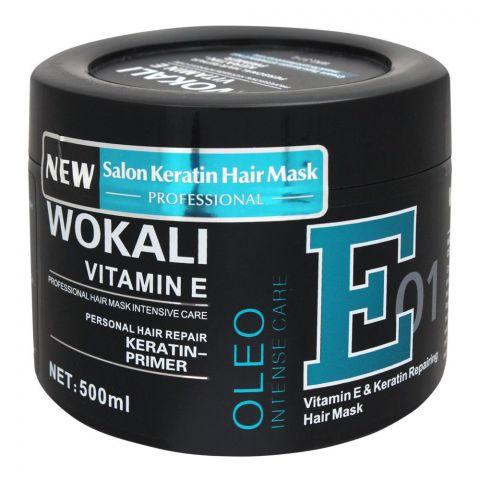 Wokali Vitamin E & Keratin Repairing Hair Mask, 01, 500ml