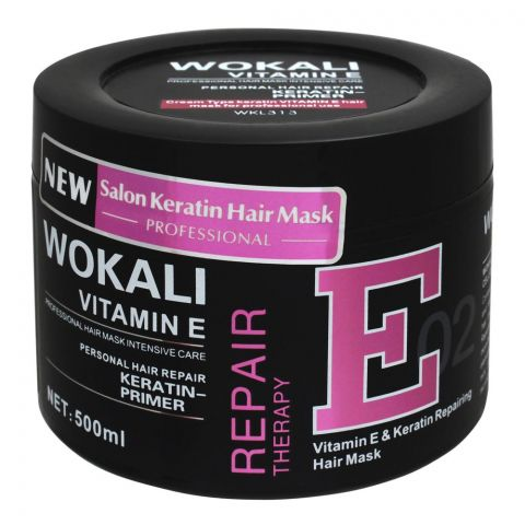 Wokali Vitamin E & Keratin Repairing Hair Mask, 02, 500ml