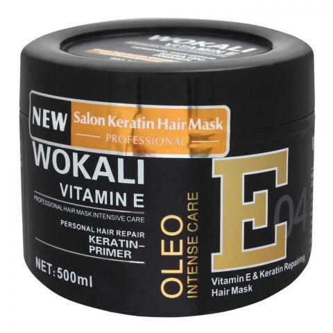Wokali Vitamin E & Keratin Repairing Hair Mask, 04, 500ml