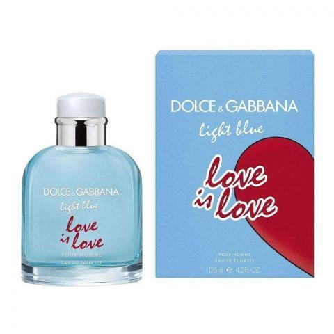 Dolce & Gabbana Light Blue Love Is Love Pour Homme Eau De Toilette, Fragrance For Men, 125ml