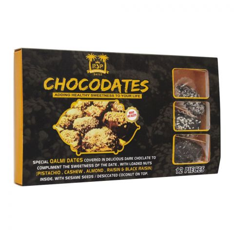 Royal Shamsi Chocolate Dates, 12 Pieces