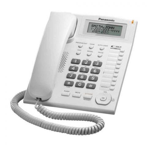 Panasonic Integrated Called ID Landline Telephone, White, KX-TS880MX