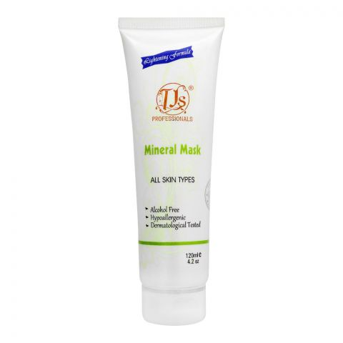 TJs Professionals Mineral Face Mask, Alcohol Free, All Skin Types, 120ml