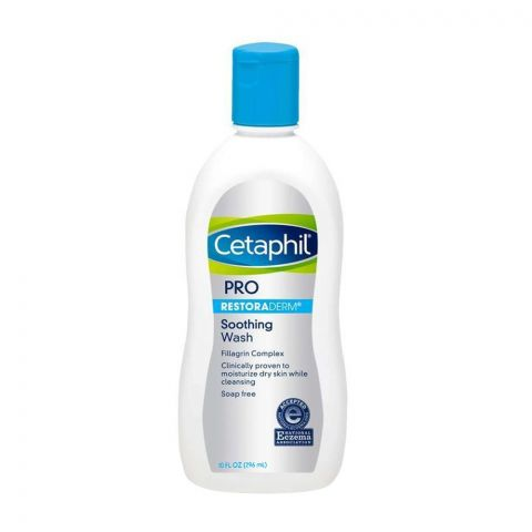 Cetaphil Pro Restoraderm Soothing Wash, Soap Free, 296ml