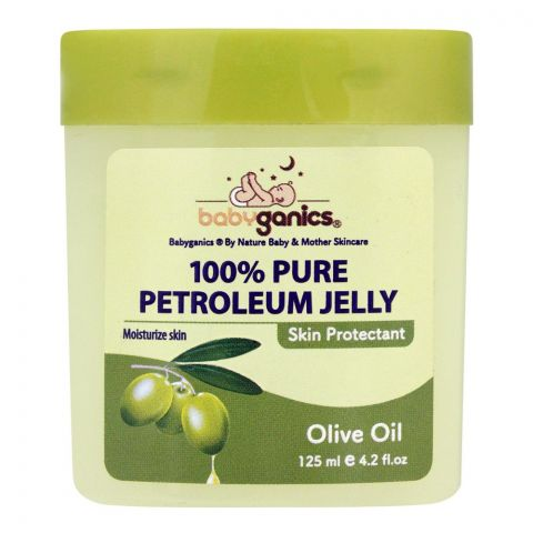 Baby Ganics Olive Oil 100% Pure Petroleum Jelly, 125ml