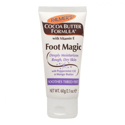 Palmer's Cocoa Butter Foot Magic Lotion, Deeply Moisturizes Rough & Dry Skin, 60g