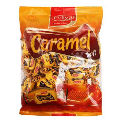 Evliya Tofim Caramel Flavour Soft Candy, Pouch, 350g