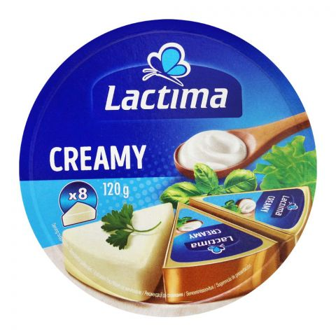 Lactima Creamy Cheese Portions, 8 Pieces, 120g