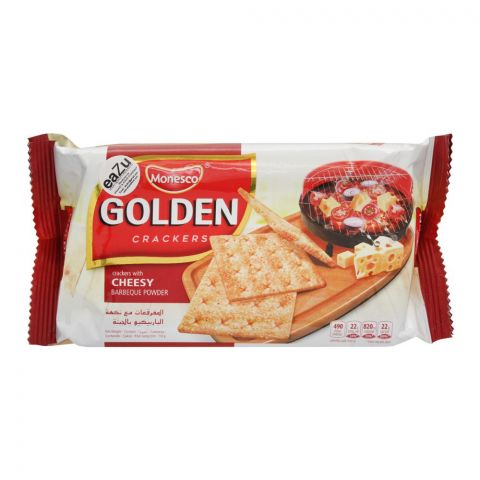 Monesco Golden Crackers With Cheesy BBQ Powder, 135g