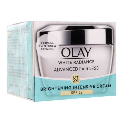 Olay White Radiance Advanced Fairness Brightening Intensive Cream, SPF 24, 50g
