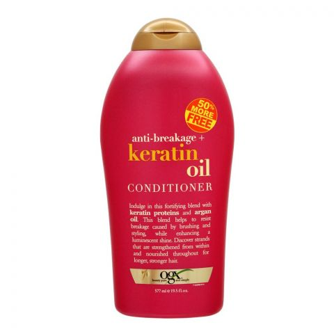 OGX Anti-Breakage + Keratin Oil Conditioner, Sulfate Free, 577ml