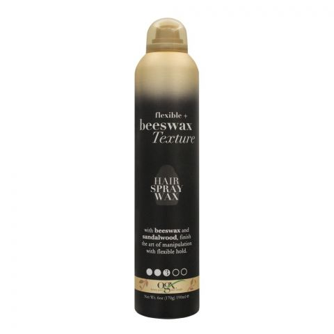 OGX Flexible + Beeswax Texture Hair Spray Wax, 170g