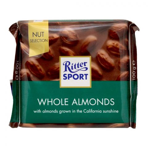 Ritter Sport Nut Selection Whole Almonds Chocolate, 100g