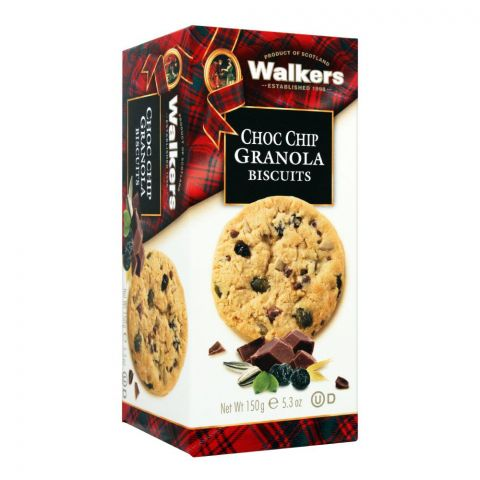 Walkers Choc Chip Granola Biscuits, 150g