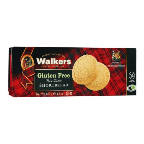 Walkers Gluten Free Pure Butter Shortbread Biscuits, 140g