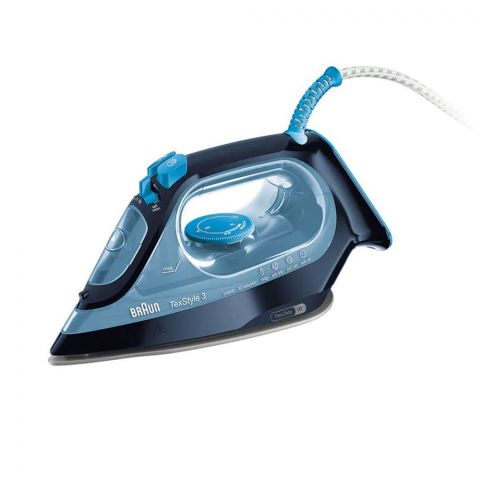 Braun TexStyle 3 Super Ceramic Steam Iron, 2300W, Blue, SI3050