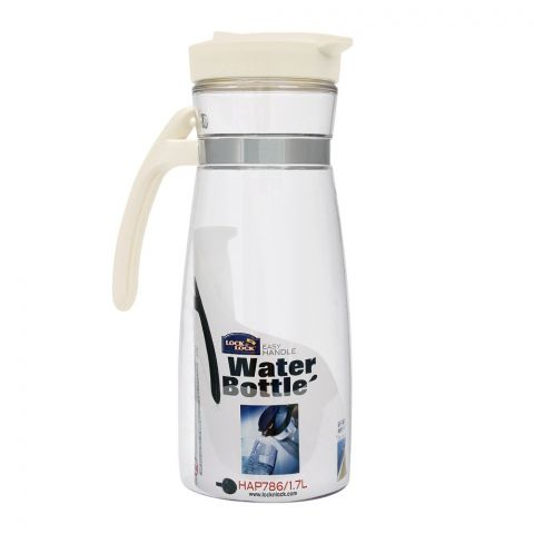 Lock & Lock Water Bottle Jug With Handle, White, 1.7L, LLHAP786W