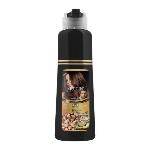 Muicin 5-In-1 Ginger & Argan Hair Dye + Shampoo + Conditioner, Black, 200ml