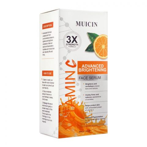 Muicin 3X Vitamin C Advanced Brightening Face Serum, 30ml