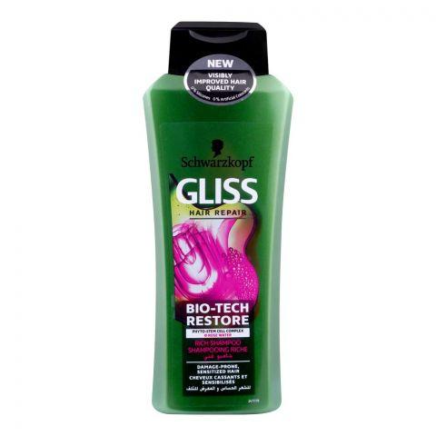 Schwarzkopf Gliss Hair Repair Bio-Tech Restore Rich Shampoo, 400ml