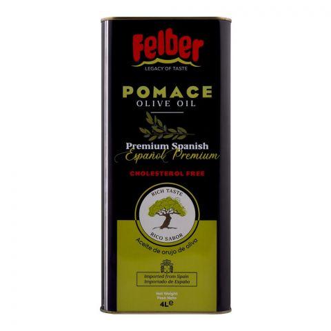 Felber Pomace Olive Oil, Tin, 4 Liters