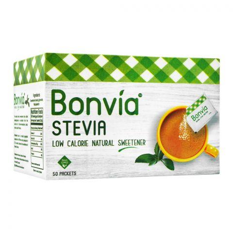 Bonvia Stevia Sweetener Sachet, 50-Pack