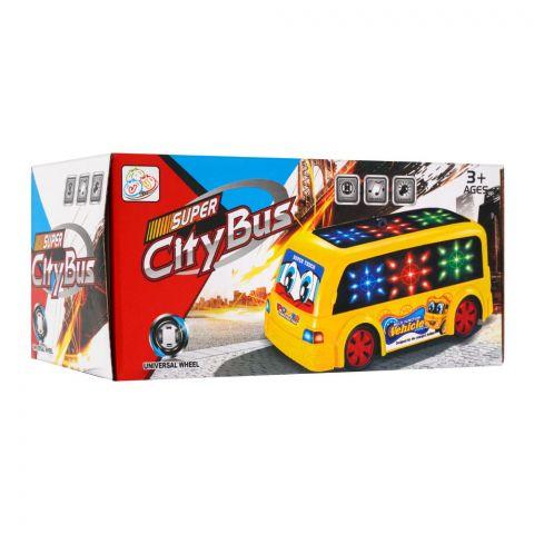 Live Long Super City Bus With 4D Light & Sound, 1688