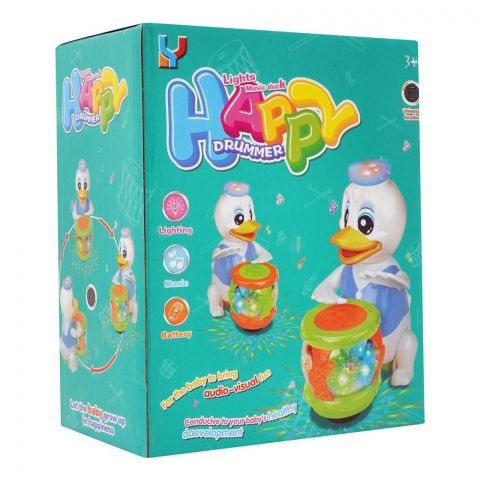 Live Long Donald Duck Happy Drummer With Light & Sound, 6622B