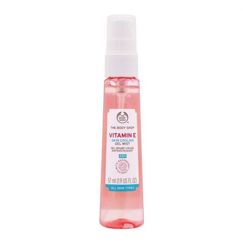 The Body Shop 48H Vitamin E Skin Cooling Gel Face Mist, All Skin Types, 57ml