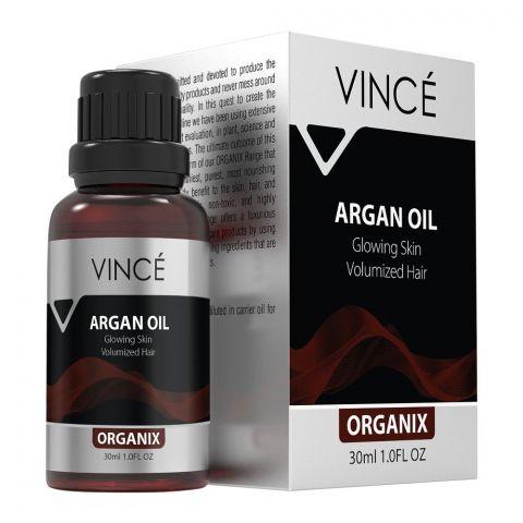 Vince Organix Argan Oil, Glowing Skin Volumized Hair, 30ml