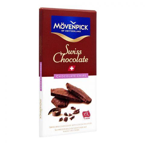 Movenpick Swiss Milk Chocolate With Cocoa Splinters, Chocolate Chips, 70g