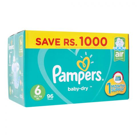 Pampers No. 6, XL Mega Pack, 16+ KG, 96 Pieces