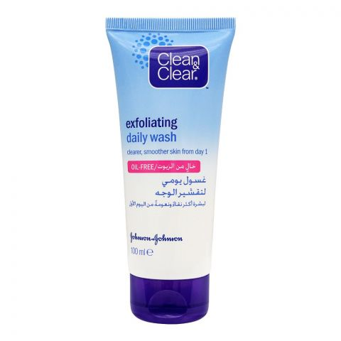 Clean & Clear Exfoliating Daily Wash, Oil-Free, 100ml