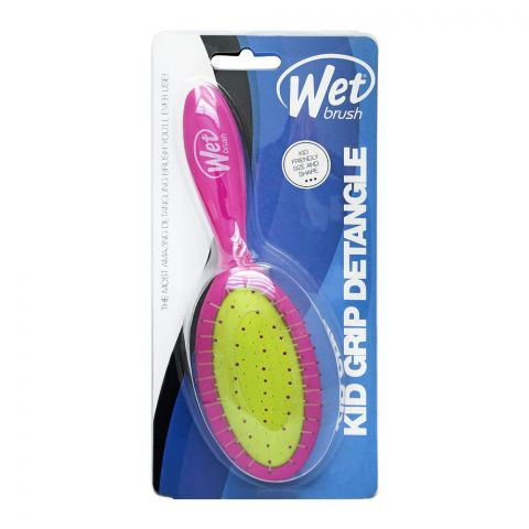 Wet Brush Kid Grip Detangler Hair Brush, Purple, BWR835KGPR