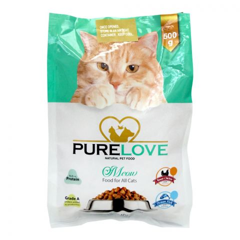 Pure Love Meow Food For All Cats, Roast Chicken, Pouch, 500g
