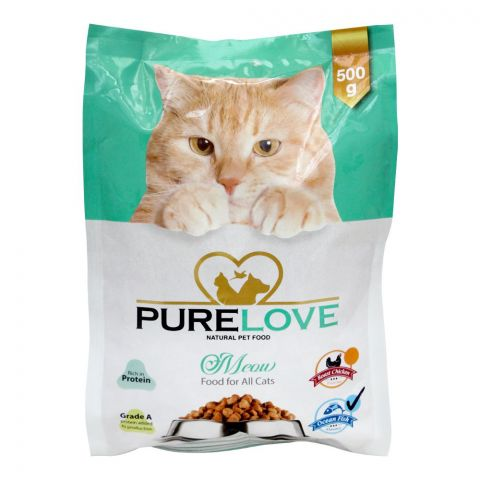 Pure Love Meow Food For All Cats, Ocean Fish, Pouch, 500g
