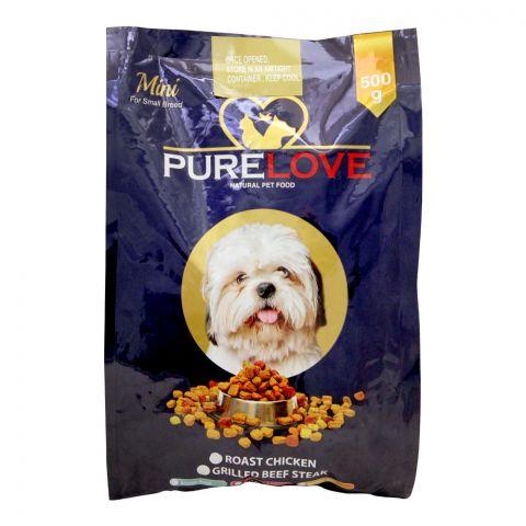 Pure Love Mini Dog Food, Roast Chicken, Pouch, 500g