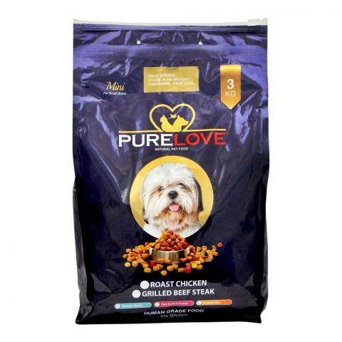 Pure Love Mini Dog Food, Roast Chicken, 3 KG