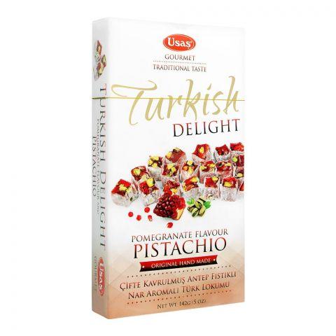 Usas Turkish Delight, Pistachio & Pomegranate, 142g