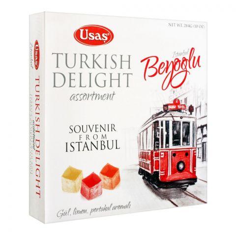 Usas Turkish Delight Assorted With Fruits, Beyoglu Souvenir, 284g