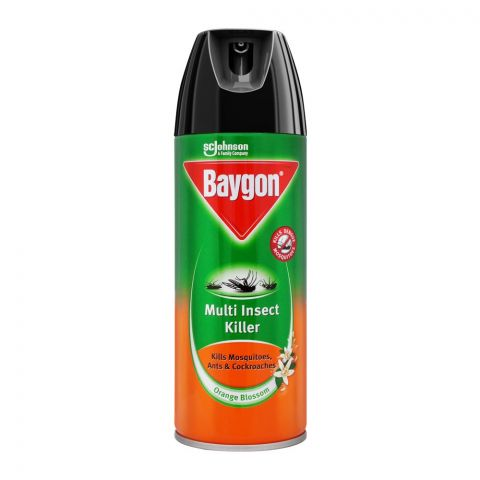 Baygon Multi Insect Killer Spray, Orange Blossom, 300ml