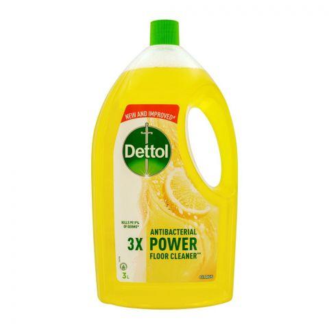 Dettol Antibacterial Power Floor Cleaner, Citrus, 3 Liters