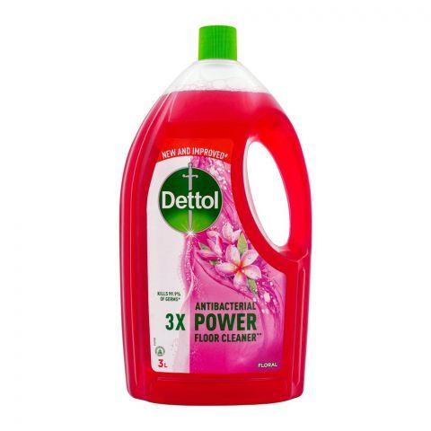 Dettol Antibacterial Power Floor Cleaner, Floral, 3 Liters