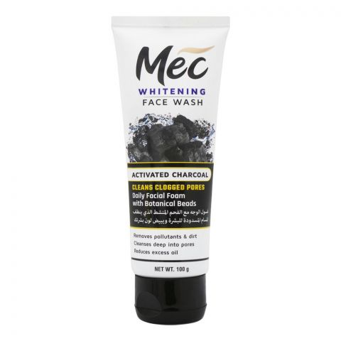 Mec Whitening Activated Charcoal Face Wash, 100g