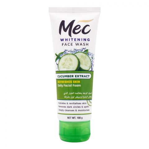 Mec Whitening Cucumber Extract Face Wash, 100g