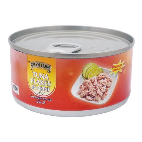 Green Farm Tuna Flakes In Brine, 170g
