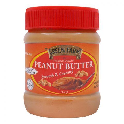 Green Farm Peanut Butter, Smooth & Creamy, 340g