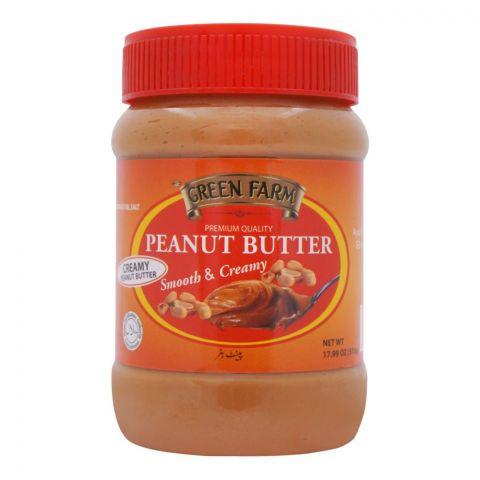 Green Farm Peanut Butter, Smooth & Creamy, 510g