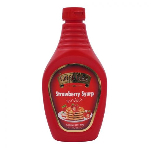 Green Farm Strawberry Syrup, 624g